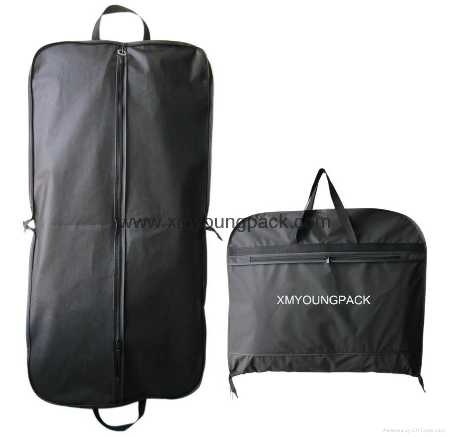 Personalized custom printed black non woven suit cover garment bag 4