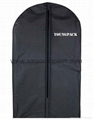 Personalized custom printed black non woven suit cover garment bag 11