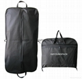 Fashion deluxe custom printed black garment bag suit carrier