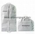 Wholesale custom black non woven polypropylene garment cover bags