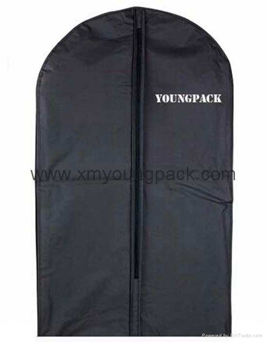 Wholesale custom black non woven polypropylene garment cover bags 3