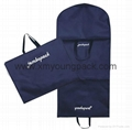 Wholesale custom black non woven polypropylene garment cover bags 5