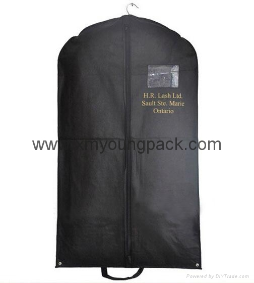 Wholesale custom black non woven polypropylene garment cover bags 8