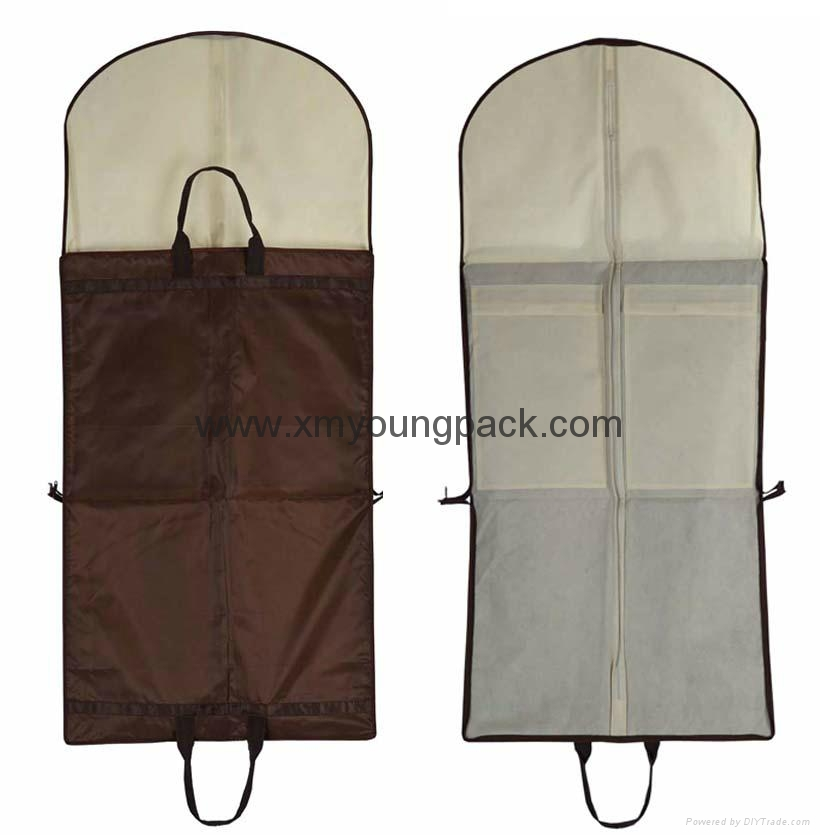 Wholesale custom black non woven polypropylene garment cover bags 10