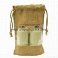 Fashion custom printed large two tone jute shopper bag jute carry bag