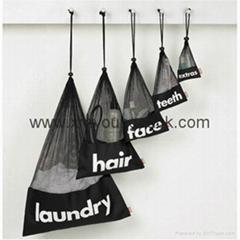 Promotional custom black mesh laundry
