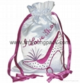 Wholesale promotional custom small 100% polyester satin fabric gift bags 3