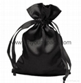 Promotional custom small white satin drawstring jewelry pouch