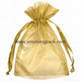 Wholesale bulk personalized custom small black and pink satin wedding favor bags 6