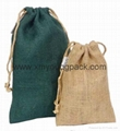 Promotional custom small pouch jute drawstring bag