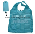 Promotion custom printed reusable nylon foldable shopper bag