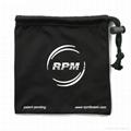 Promotional custom printed black soft microfiber cloth bag with drawstring 4