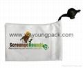 Promotional custom printed black soft microfiber cloth bag with drawstring 7