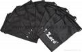 Promotional custom printed black soft microfiber cloth bag with drawstring 8