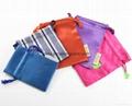 Promotional custom printed black soft microfiber cloth bag with drawstring 13