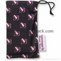 Wholesale custom printed black soft microfiber cloth pouch sunglass bags 5