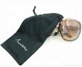 Wholesale custom printed black soft microfiber cloth pouch sunglass bags