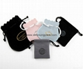 Wholesale promotional custom small 100% polyester satin fabric gift bags 10