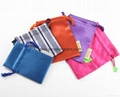 Wholesale promotional custom small 100% polyester satin fabric gift bags 13