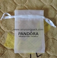 Wholesale promotional large silver organza drawstring pouch organza bags 5