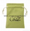 Wholesale custom small white faux suede drawstring jewelry pouches 3