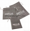 Custom printed small faux suede jewelry bag promotional suede gift bags 2