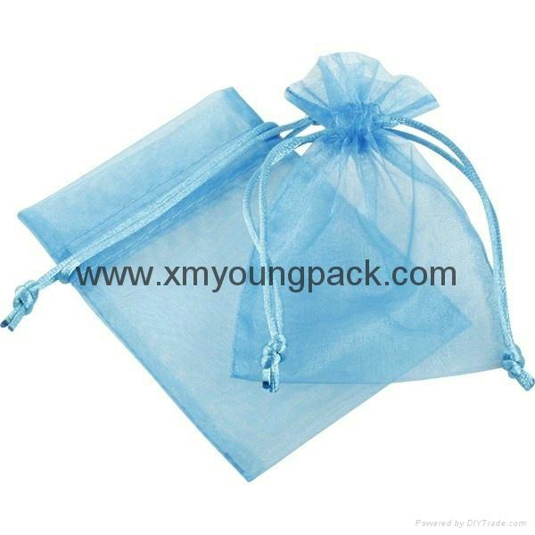 Custom small organza jewelry pouch organza gift bag 1