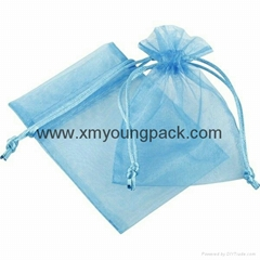 Custom small organza jewelry pouch organza gift bag