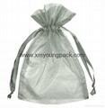 Custom small organza jewelry pouch organza gift bag 3