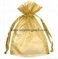 Custom small organza jewelry pouch organza gift bag