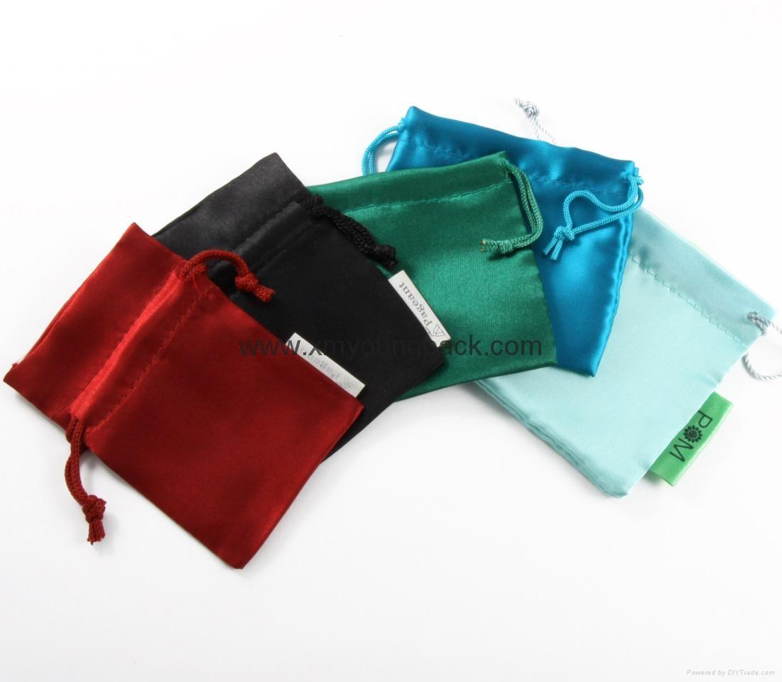 Custom printed small pink velvet jewelry bag drawstring velvet pouch 3