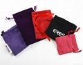 Custom printed small pink velvet jewelry bag drawstring velvet pouch 5