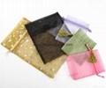 Custom printed small pink velvet jewelry bag drawstring velvet pouch 8
