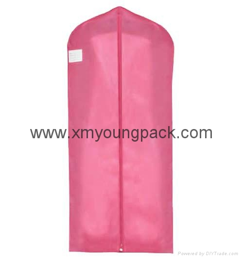 Custom printed white bridal gown dress bag non woven wedding dress cover 3