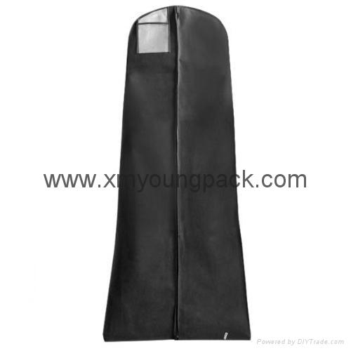 Custom printed white bridal gown dress bag non woven wedding dress cover 4