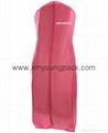 Custom printed white bridal gown dress bag non woven wedding dress cover 2