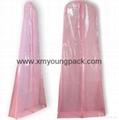 Custom printed white bridal gown dress bag non woven wedding dress cover 5