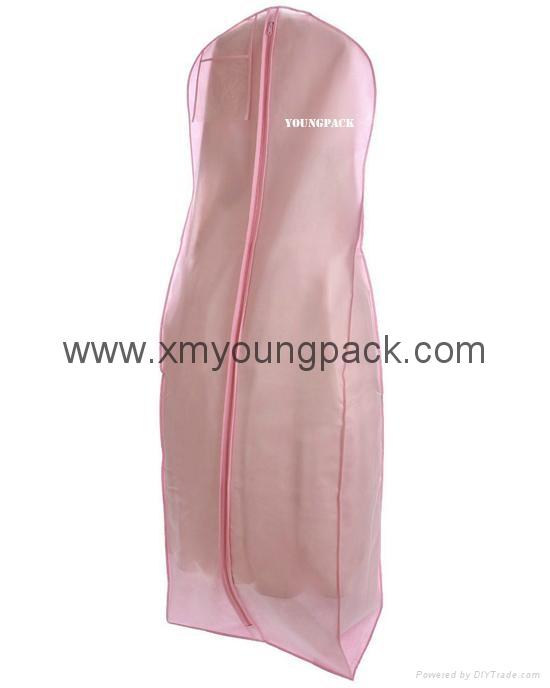 Custom printed white bridal gown dress bag non woven wedding dress cover 6