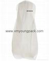 Custom printed white bridal gown dress bag non woven wedding dress cover 7