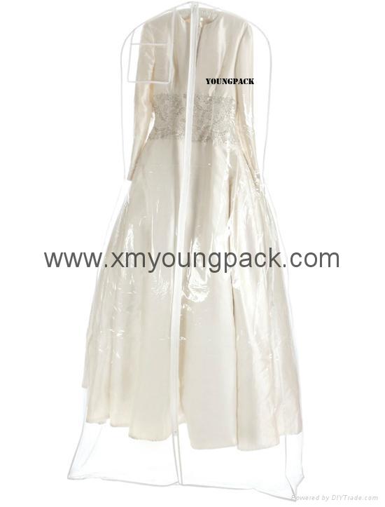 Custom printed white bridal gown dress bag non woven wedding dress cover 8