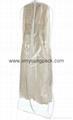 Custom printed white bridal gown dress bag non woven wedding dress cover 9
