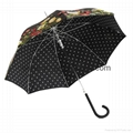 Wholesale promotional custom printed auto open close metallic gold UV umbrella 5