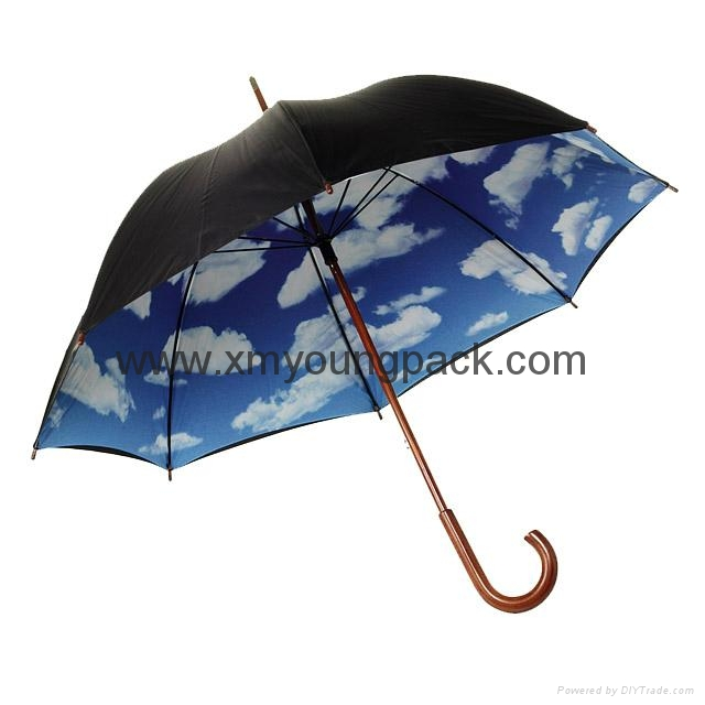 Wholesale promotional custom printed auto open close metallic gold UV umbrella 7