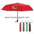 Wholesale promotional custom printed auto open close metallic gold UV umbrella 12