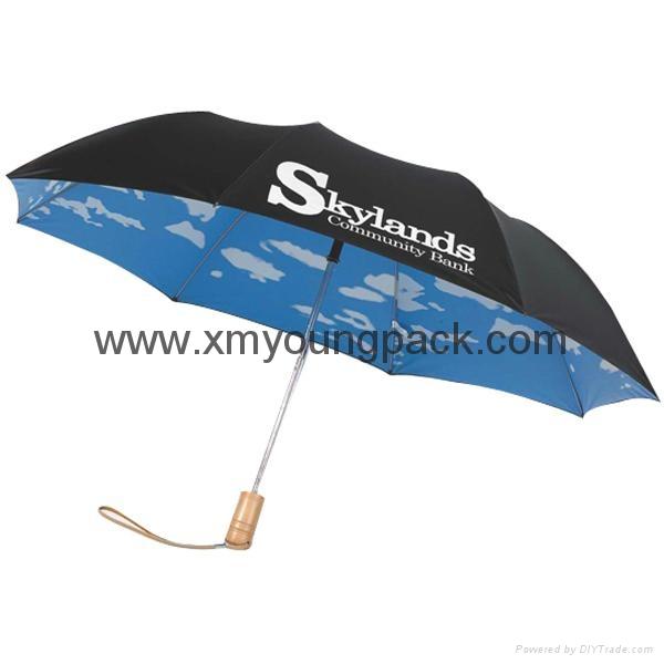 Fashion customized printed mini sky collapsible sun umbrella 2