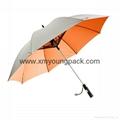 Promotional popular rainbow umbrella creative color wheel stick umbrella 3