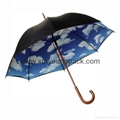 Promotional popular rainbow umbrella creative color wheel stick umbrella 5
