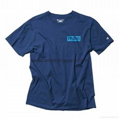 Wholesale promotional custom printed classic navy blue mens t shirt
