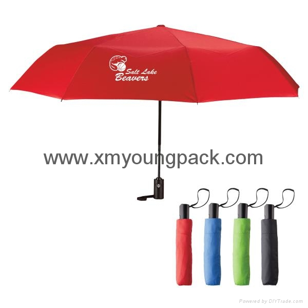 "Promotional custom printed 42"" auto open and close fold advertisement umbrella 1"