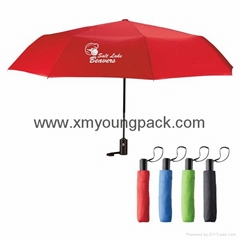 "Promotional custom printed 42"" auto open and close fold advertisement umbrella"